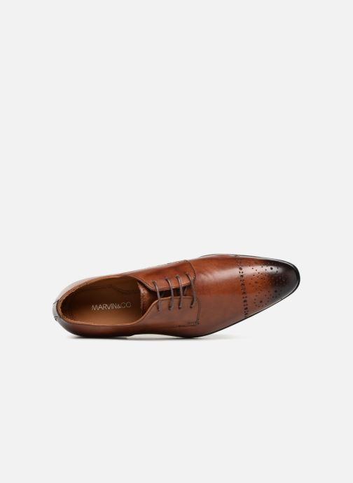 Chaussures à lacets Marvin&Co Nelton Marron vue gauche