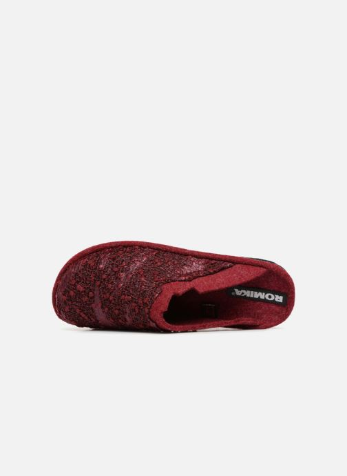 Slippers Romika Mikado 103 Red view from the left