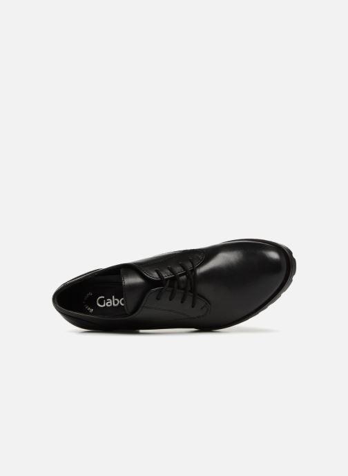 Chaussures à lacets Gabor Ritta Noir vue gauche