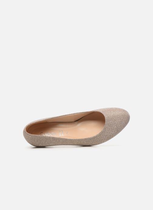 Zapatos de tacón Gabor Tanja Beige vista lateral izquierda