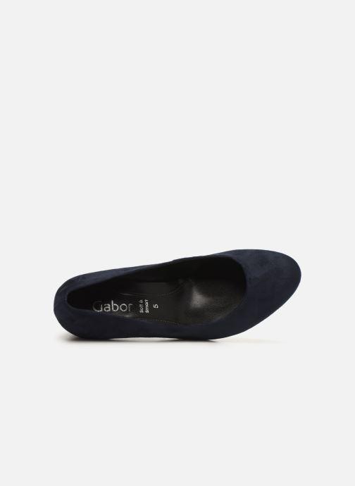 Zapatos de tacón Gabor Tanja Azul vista lateral izquierda