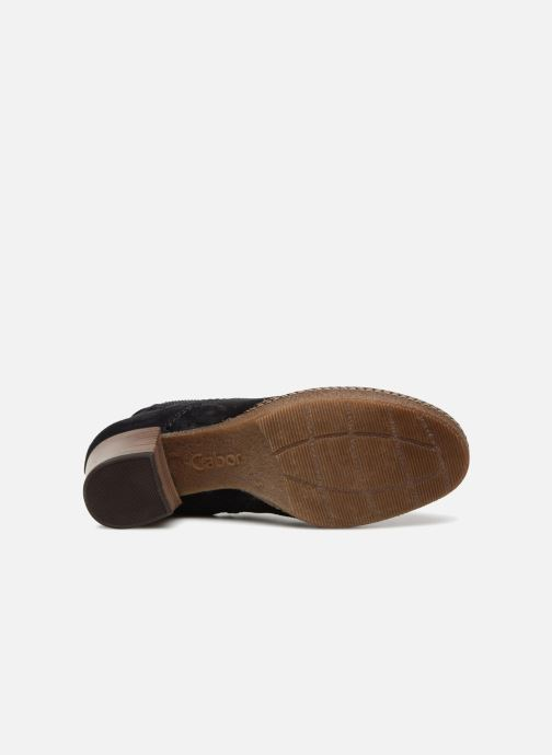 Bottines et boots Gabor Margueritte Bleu vue haut