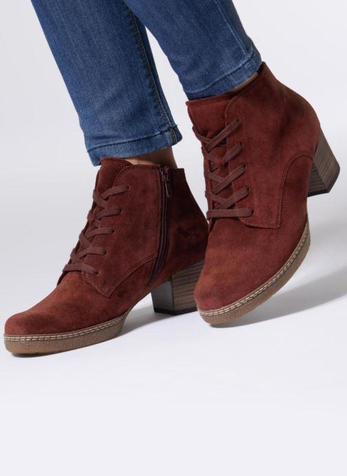 Bottines et boots Gabor Odile Rouge vue bas / vue portée sac