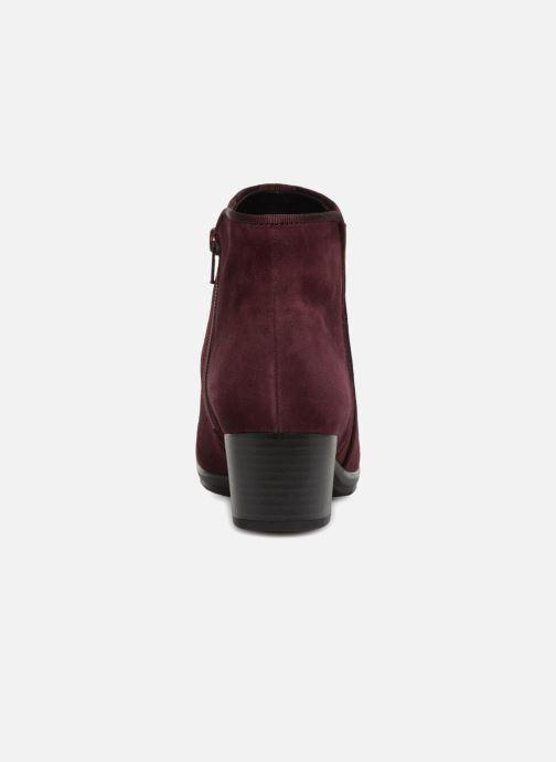 Bottines et boots Gabor Estelle Bordeaux vue droite