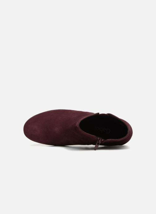 Bottines et boots Gabor Estelle Bordeaux vue gauche