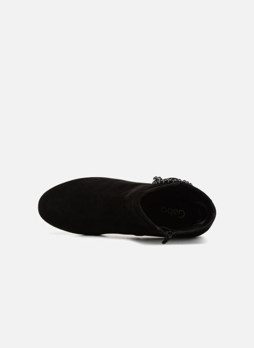 Bottines et boots Gabor Colette Noir vue gauche