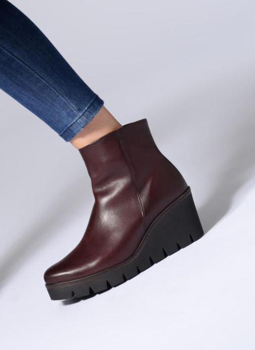 Bottines et boots Gabor Capucine Bordeaux vue bas / vue portée sac