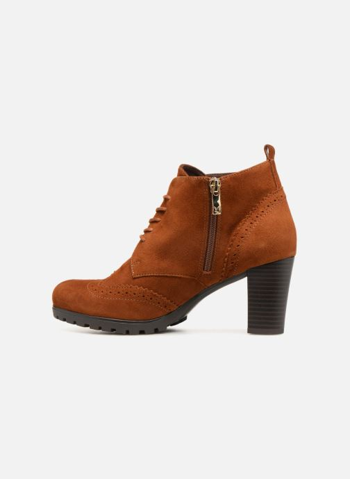 Ankle boots Caprice Becca Brown front view
