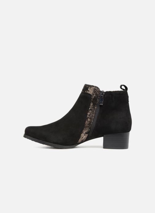 Bottines et boots Caprice Léa Noir vue face