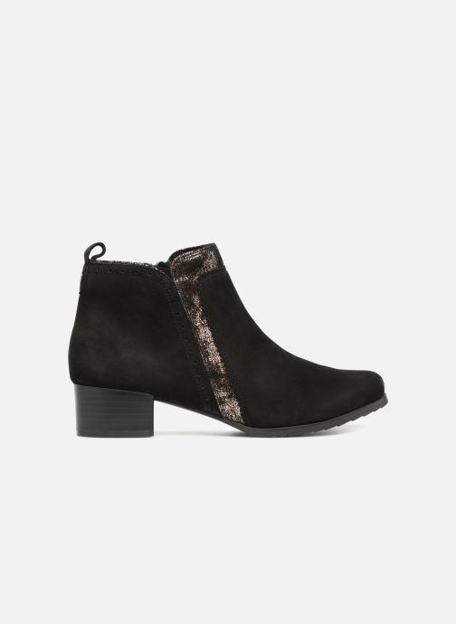Bottines et boots Caprice Léa Noir vue derrière