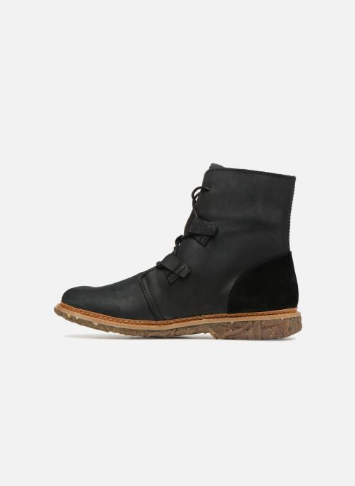 Ankle boots El Naturalista Angkor N5470 Black front view