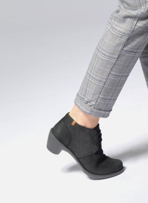 Zapatos con cordones El Naturalista Aqua N5326 Negro vista de abajo