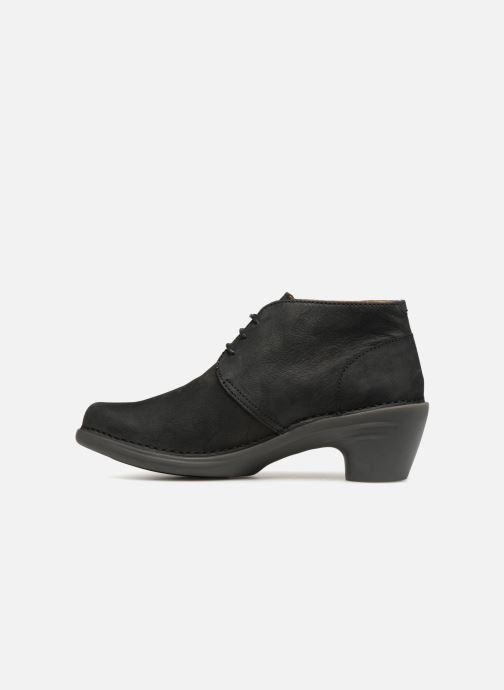 Zapatos con cordones El Naturalista Aqua N5326 Negro vista de frente
