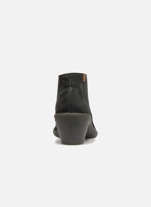 Zapatos con cordones El Naturalista Aqua N5326 Negro vista lateral derecha