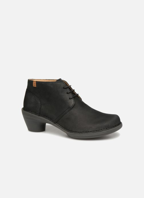 Zapatos con cordones El Naturalista Aqua N5326 Negro vista de detalle / par