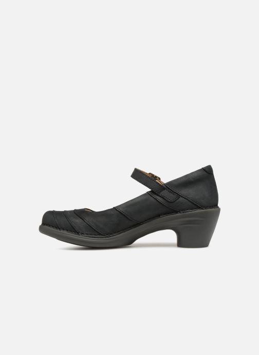 Zapatos de tacón El Naturalista Aqua N5327 Negro vista de frente