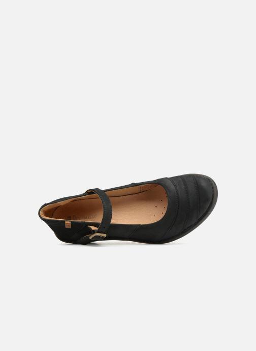 Zapatos de tacón El Naturalista Aqua N5327 Negro vista lateral izquierda