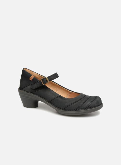 Zapatos de tacón El Naturalista Aqua N5327 Negro vista de detalle / par