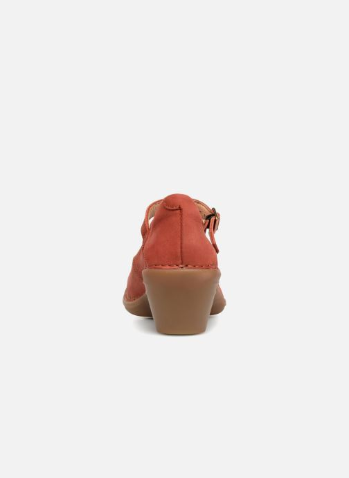 High heels El Naturalista Aqua N5327 Red view from the right