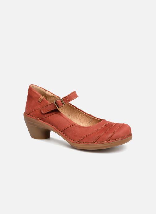 High heels El Naturalista Aqua N5327 Red detailed view/ Pair view