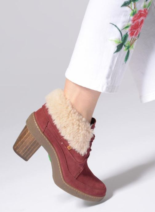 Ankle boots El Naturalista Lichen N5172 Red view from underneath / model view