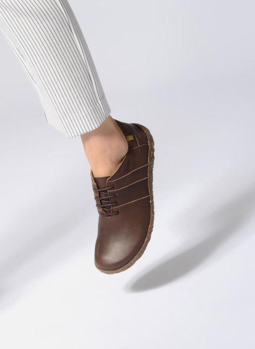 Zapatos con cordones El Naturalista Nido N5442 Marrón vista de abajo