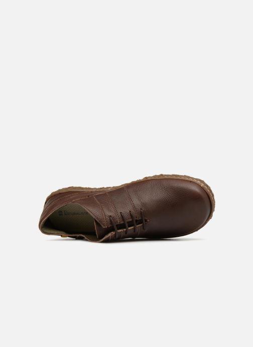 Zapatos con cordones El Naturalista Nido N5442 Marrón vista lateral izquierda
