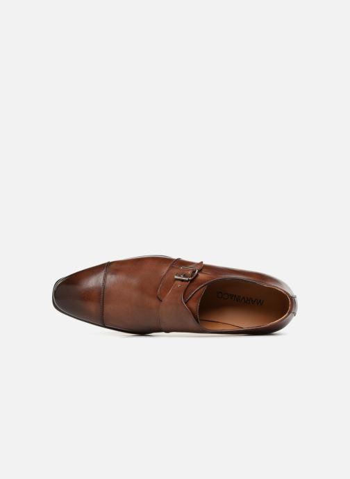 Chaussure à boucle Marvin&Co Luxe Denston - Cousu Blake Marron vue gauche