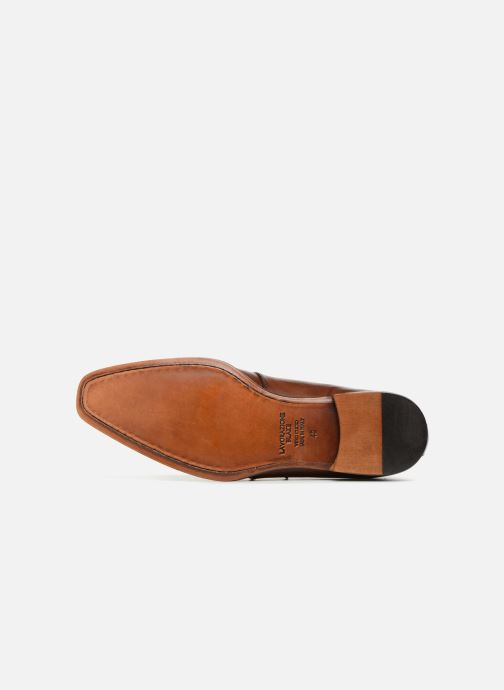 Mocassins Marvin&Co Luxe Denston - Cousu Blake Marron vue haut