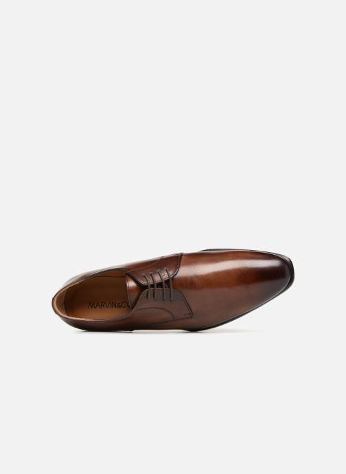 Scarpe con lacci Marvin&Co Luxe Dariton - Cousu Blake Marrone immagine sinistra