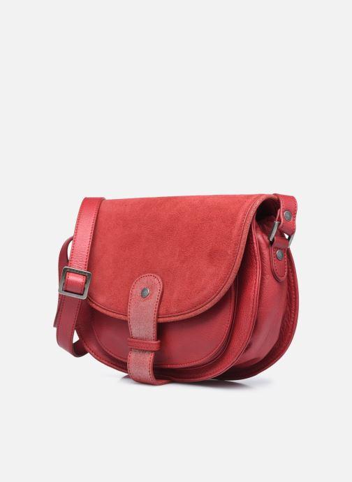Handtaschen Sabrina LUCE rot schuhe getragen