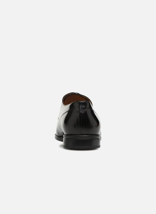 Lace-up shoes Doucal's LUCCA Black view from the right