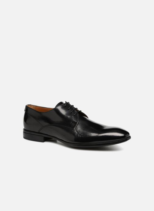 Lace-up shoes Doucal's LUCCA Black detailed view/ Pair view