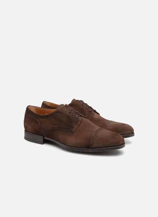 Lace-up shoes Doucal's ORLAN Brown 3/4 view