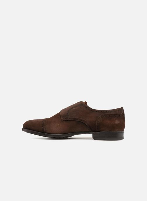 Lace-up shoes Doucal's ORLAN Brown front view