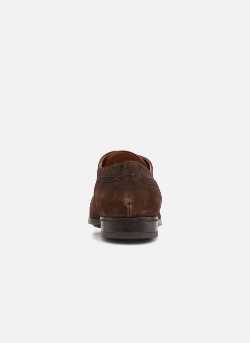 Chaussures à lacets Doucal's ORLAN Marron vue droite