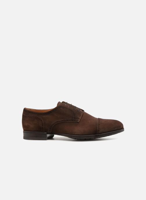 Lace-up shoes Doucal's ORLAN Brown back view