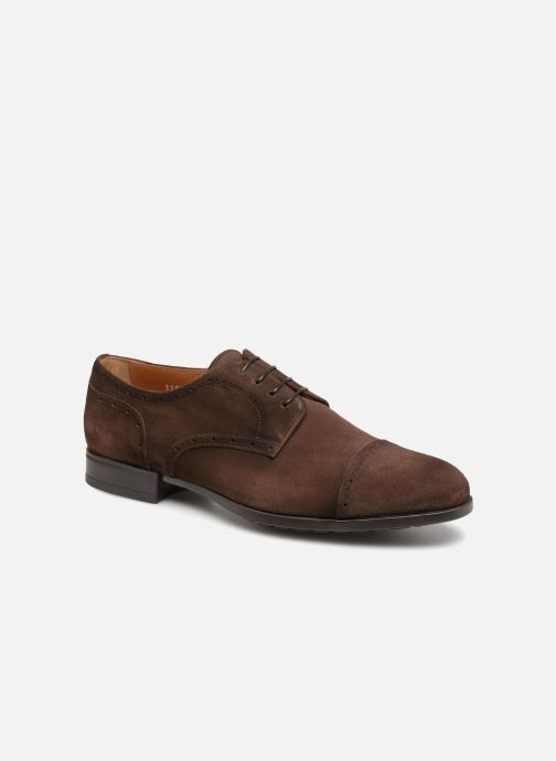 Lace-up shoes Doucal's ORLAN Brown detailed view/ Pair view