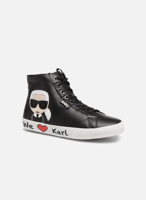 de9876e7b73 KARL LAGERFELD Skool Karl Ikonic Hi Lace (Black) - Trainers chez ...