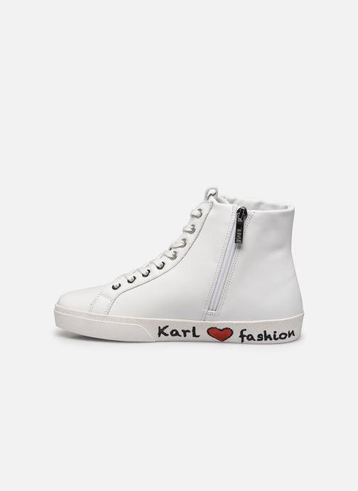 Baskets Karl Lagerfeld Skool Karl Ikonic Hi Lace Blanc vue face