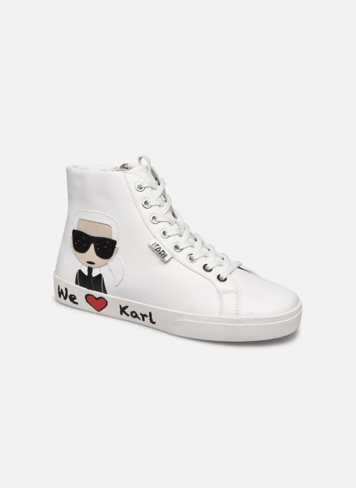 Baskets Karl Lagerfeld Skool Karl Ikonic Hi Lace Blanc vue détail/paire