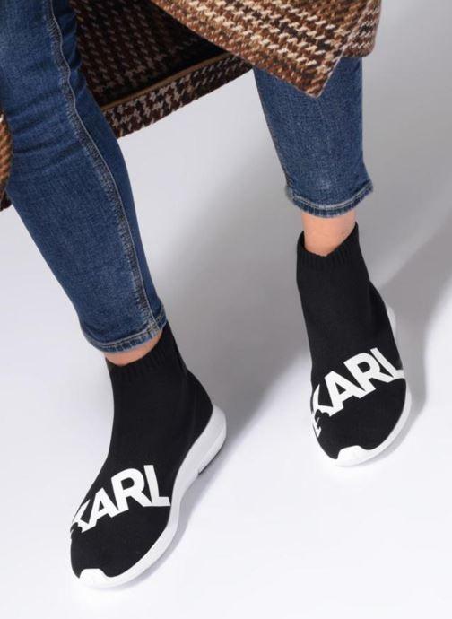 Baskets Karl Lagerfeld Vitesse Legere Knit Karl Print Noir vue bas / vue portée sac