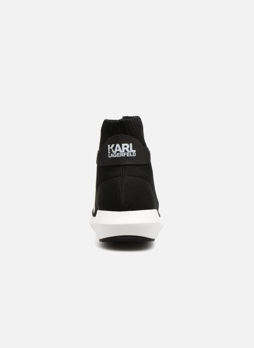 Deportivas KARL LAGERFELD Vitesse Legere Knit Karl Print Negro vista lateral derecha