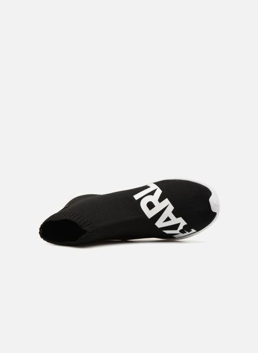 Baskets Karl Lagerfeld Vitesse Legere Knit Karl Print Noir vue gauche