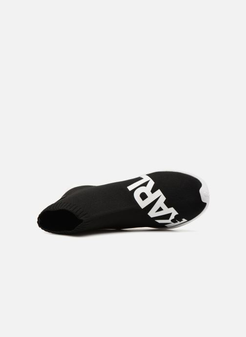 Sneakers Karl Lagerfeld Vitesse Legere Knit Karl Print Zwart links