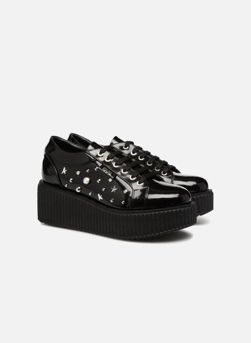 Chaussures à lacets KARL LAGERFELD Kreeper Celestia Lace Noir vue 3/4