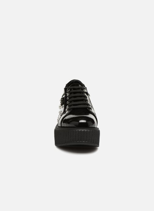Schnürschuhe KARL LAGERFELD Kreeper Celestia Lace schwarz schuhe getragen