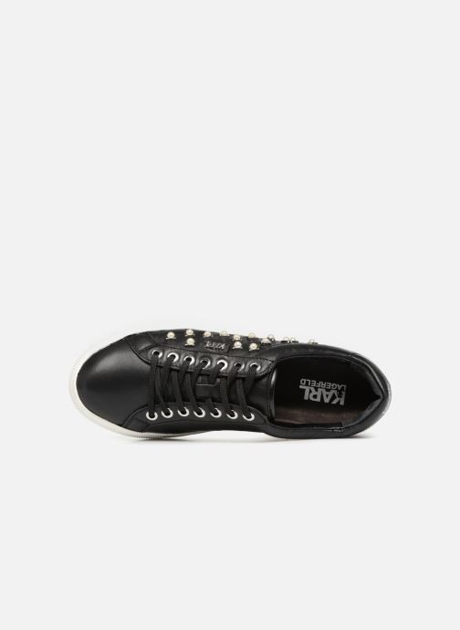 Baskets Karl Lagerfeld Luxor Kup Cat Pearl Lace Up Noir vue gauche
