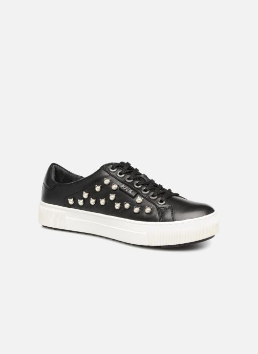 Baskets KARL LAGERFELD Luxor Kup Cat Pearl Lace Up Noir vue détail/paire