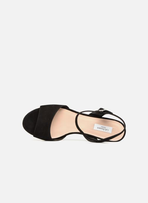 Sandales et nu-pieds L.K. Bennett Keriss Noir vue gauche